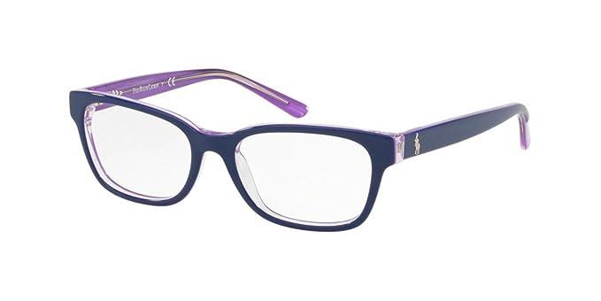 Ralph Lauren POLO 0PP8532 Monturas de gafas, Shiny Top Blue On ...