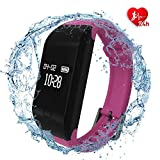 fitpolo Fitness Watch, Fitness Tracker, Activity Tracker with Heart Rate Monitor Waterproof Smart Wristband Sleep Monitor Step Counter Calorie Counter Pedometer for Women Men Kids Android iOS Purple
