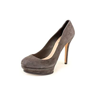 BCBG Max Azria Pamela1 Women Open Toe Suede Platform Heel Grigio Size 10.0