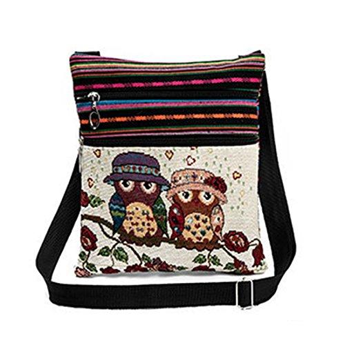 tracolla lampo Gufo Donne a chiusura Dunland della portafoglio borsa della borsa Multicolore3 tracolla a qHpwBXzF