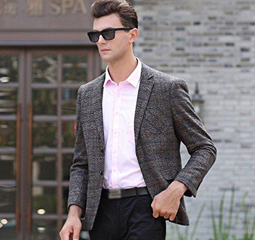 Yilianda Slim Di Jacket Marrone Lana Elegante Giacca Giacche Outwear Vestito Fit Affari Blazer Cappotto q0IwH0