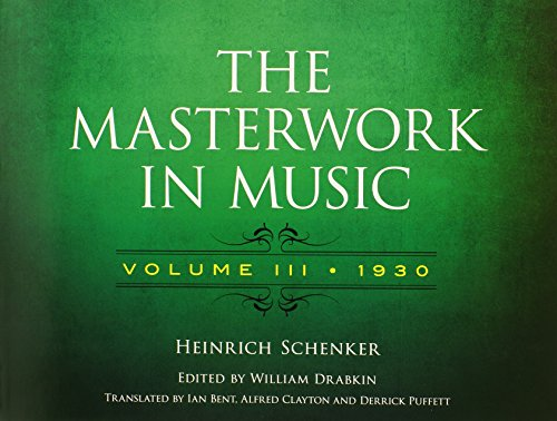 - The Masterwork in Music: Volume III, 1930 (Dover Books on Music and Music History)