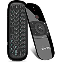 Mini Air Mouse,Wechip 2.4G Smart TV Wireless Keyboard Fly Mouse W1 Multifunctional Remote Control for Android TV Box/PC/Smart TV/Projector/HTPC/All-in-one PC/TV