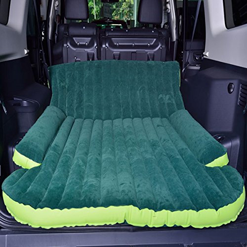 NeDonald Universal Car Inflatable Mattress Bed Outdoor Travel Air Bed Cushion with Air Pump for ()