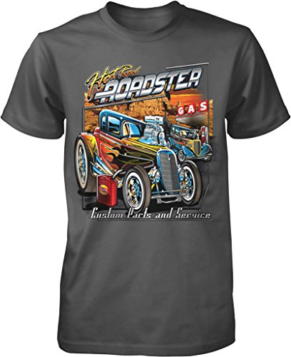 (NOFO Clothing Co Hot Rod Roadster, Custom Parts and Service Men's T-Shirt, XXL Char)