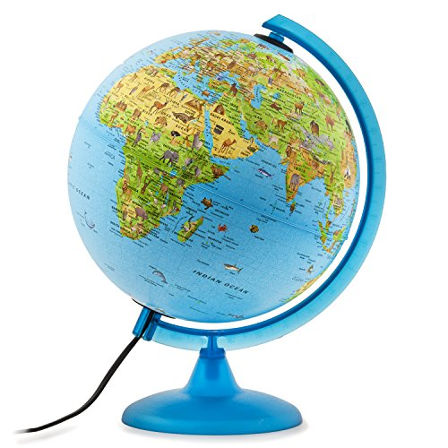 Waypoint Geographic Safari Explorer Blue Animals Globe World, 10