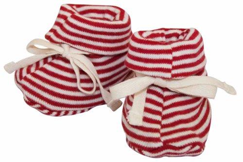 nature-baby-organic-cotton-drawstring-booties-3-6-months-red-stripe