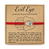 RareLove Evil Eye Hamsa Hand Red String Adjustable