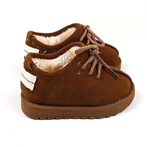 Huhu833 Kinder Mode Baby Stiefel, Warme Watte Gepolsterten Schuhe Schnee Stiefel Warm Schuhe Casual Snow Boots Braun
