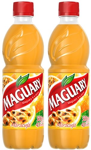 Maguary Passion Fruit Juice Concentrate - 16.9 FL.Oz | Suco Concentrado de Maracujá Maguary - 500ml - (PACK OF 02) (Cooking With A Brazilian Twist)