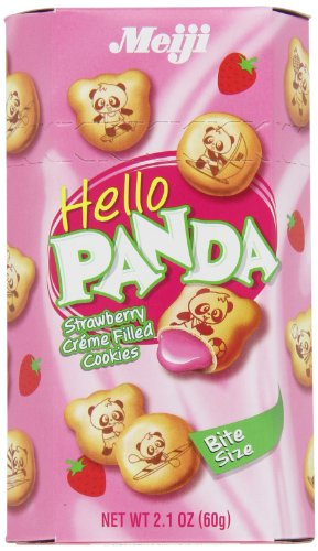 Meiji Hello Panda Strawberry, 2.1-Ounce Boxes (Pack of 20) ()