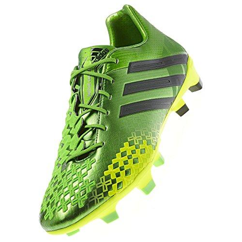Adidas Predator Absolado LZ TRX FG Cleats - Ray Green/Black/Electricity (Men) - 9.5 - Absolado Trx Fg Soccer Shoe