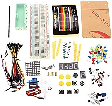 Electrónico de piezas de componentes Starter Pack Principiante Kit ...