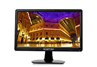 "Sceptre E165W-1600HC E 16"" Screen LED-Lit Monitor, True Black (E165W-1600HC)"