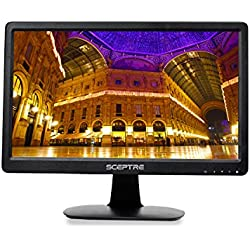 "Sceptre E165W-1600HC E 16"" Screen LED-Lit Monitor, True Black (E165W-1600HC)"