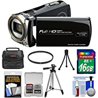 Bell & Howell DV12HDZ 1080p HD Video Camera Camcorder (Black) with 16GB Card + Case + Tripod + Filter + Accessory Kit