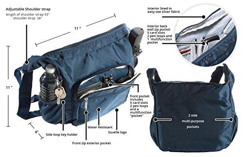 Suvelle Lightweight Hobo Travel Everyday Crossbody Bag Multi Pocket Shoulder Handbag 9020 by SUVELLÉ (Image #3)