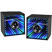 LEADING EDGE NOVELTY LIS200 Infinity Bluetooth Speakers, 2 Piece