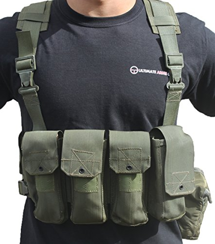 Ultimate Arms Gear Surplus Tzahal Zahal IDF Military OD Olive Drab Green Canvas Vest Harness Personal Load Carrying System PLCS + Water Bottle Insulation Hydration Canteen Cover by Ultimate Arms Gear