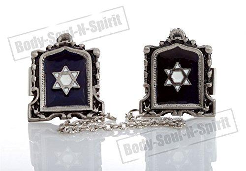 STAR OF DAVID Silver Plated Israel Tallit Clips Israel Prayer Shawl Jewelry - Clip Star Tallit