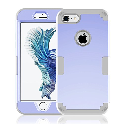 iPhone 7 Case,Anna shop iPhone 7 Hard PC Combination Bumper Anti-slip&Hybrid Impact 3 Color Shockproof Rugged Case Soft TPU Cover for Apple iphone 7s