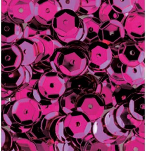 efco-Lustrini concavi confezione da 4,000 pezzi 40 g 6 mm colore: rosa brillante rotondo