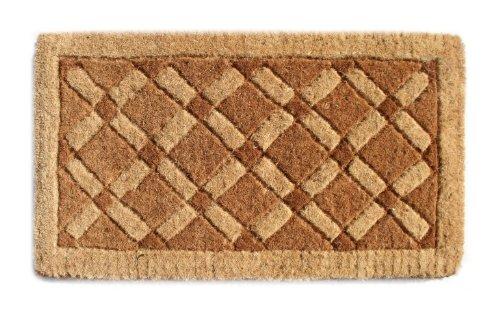 Imports Decor Coir Doormat, Cross Board, 18-Inch by - Door Jute Mats
