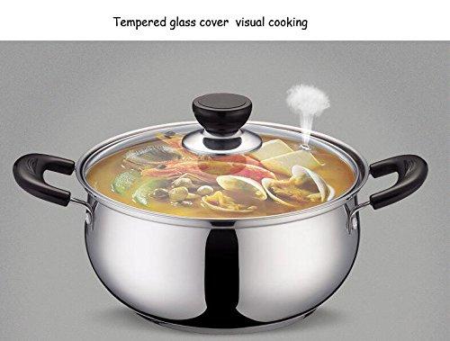 WHS Cookware Suppentopf Casserole Pan Eintopf Topf Edelstahl Suppentopf Suppentopf Suppentopf verdickte Doppel-Boden Topf Cooker Muttertag Geschenk (größe   22cm) B07JNFJXX3 Terrinen cb5638