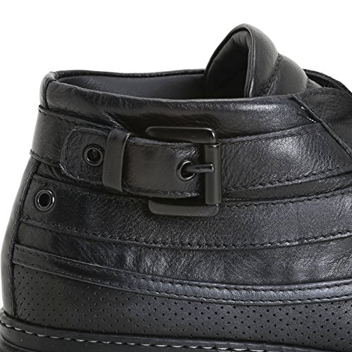 ALESYA by Scarpe&Scarpe - Zapatos acordonados con hebilla y suela militar Negro
