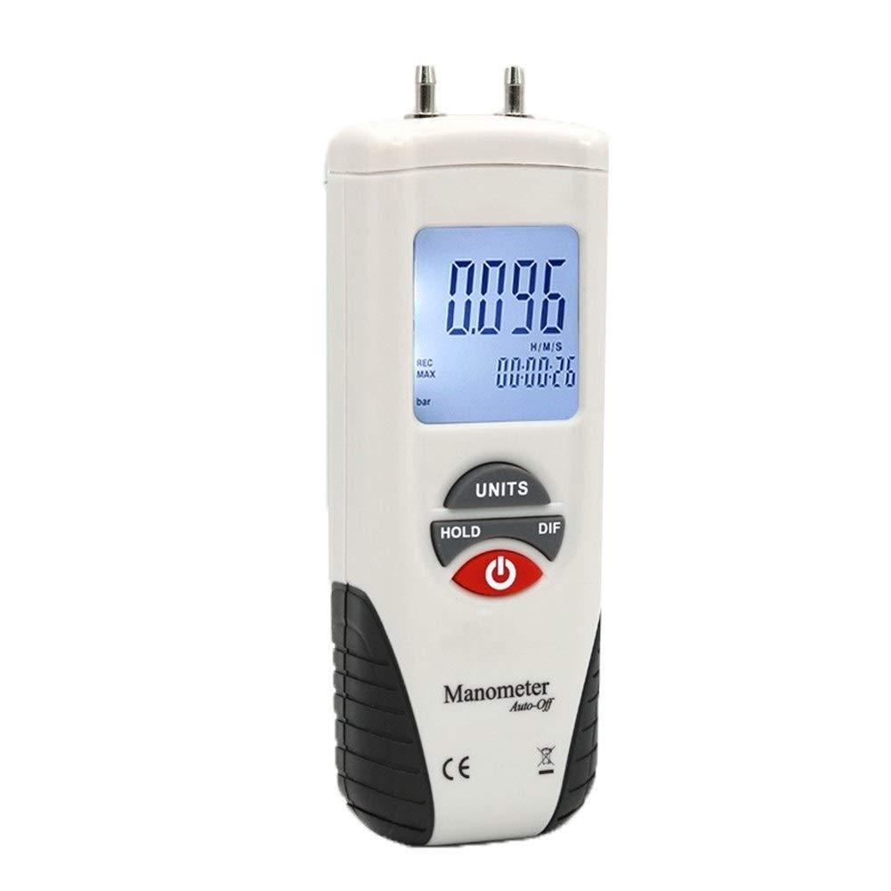 Digital Tester Digital Manometer Air Pressure Meter Pressure Gauges Differential Gauge Kit Data Hold 13kPa High Precision Tester Meter