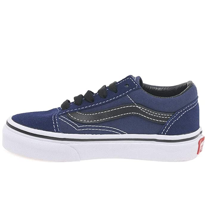 e4382784b0e8 Vans Old Skool Youth -Spring 2018- Medieval Blue Black  Amazon.es  Zapatos  y complementos