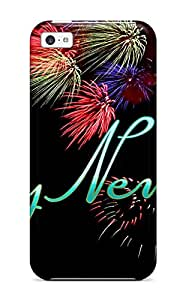 Defender Case With Nice Appearance (happy New Year 2014) For Iphone 5c