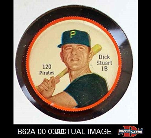 1962 Salada Coins # 120 Dick Stuart Pittsburgh Pirates (Baseball Card) Dean's Cards 5 - EX Pirates