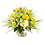 Creative-Displays-Mixed-Floral-Arrangement-with-Peonies-Hydrangea-Poppy-Heather-and-Allium-Set-in-Glass-Vessel-with-Acrylic-Water