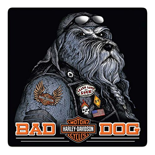 Harley-Davidson Bad Dog Bar & Shield Embossed Tin Sign,