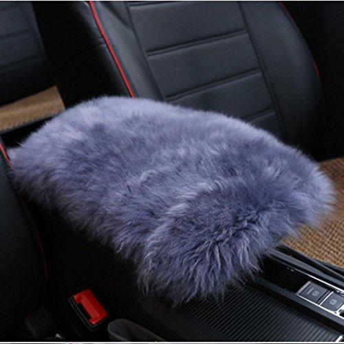Amiley Car Plush Warm Seat Cushions Armrest Center Consoles Cushion Pillow Pad for Car Motors Auto Vehicle (G)