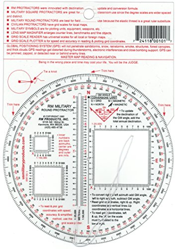 RM PRODUCTS Military Round Protractor
