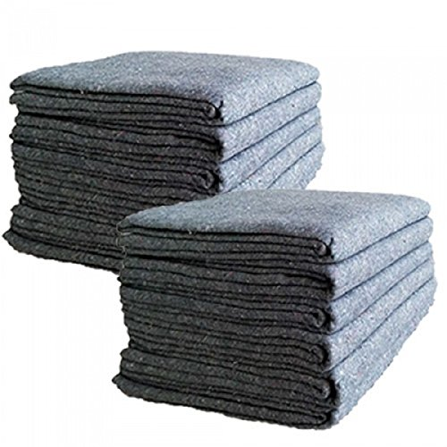 UBOXES Textile Moving Blankets (12 Pack) Professional Quality Moving Skins 54'' x 72'' Pads, Grey by Uboxes (Image #3)