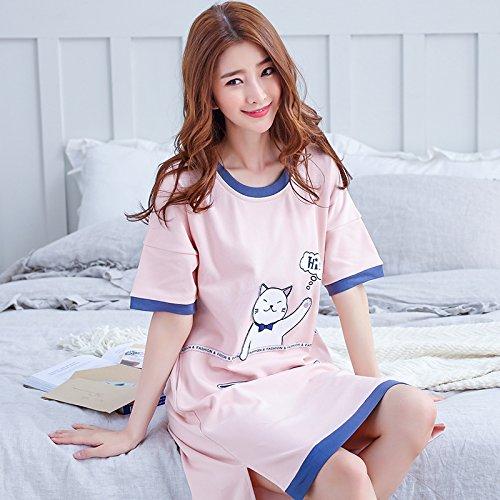 どれ歌抵抗力がある可愛い ホームナイトドレス 妊婦パジャマ hi猫 (M)