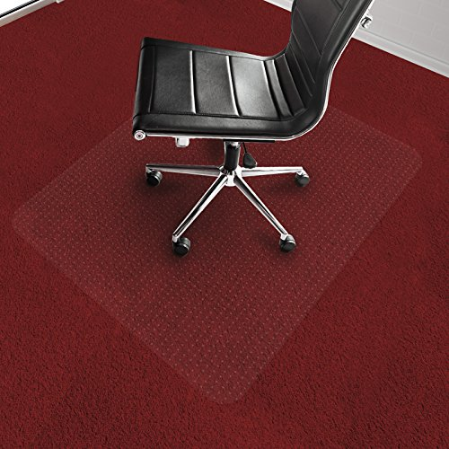 Office Marshal Chair Mat for Carpet Floors, Low/Medium Pile - 30'' x 48'', Multiple Sizes - 100% Pure Polycarbonate, No-Recycling Material - Transparent, High Impact Strength by Office Marshal