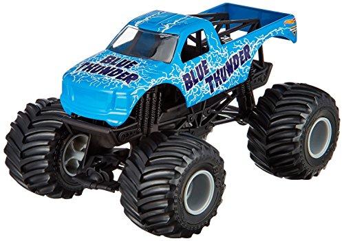 Blue Monster Truck (Hot Wheels Monster Jam Blue Thunder Die-Cast Vehicle, 1:24 Scale)