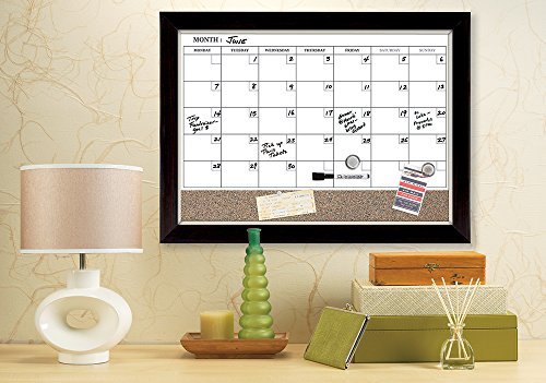 Quartet Magnetic Combination Calendar Board Dry Erase And