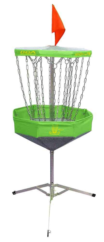 DGA Mach Lite Portable Disc Golf Basket, Green