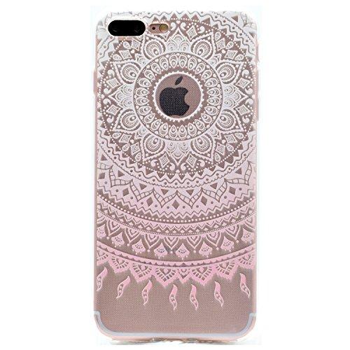 Für Apple iPhone 7 Plus (5,5 Zoll) Hülle ZeWoo® TPU Schutzhülle Silikon Tasche Case Cover - MM057 / Rosa Muster