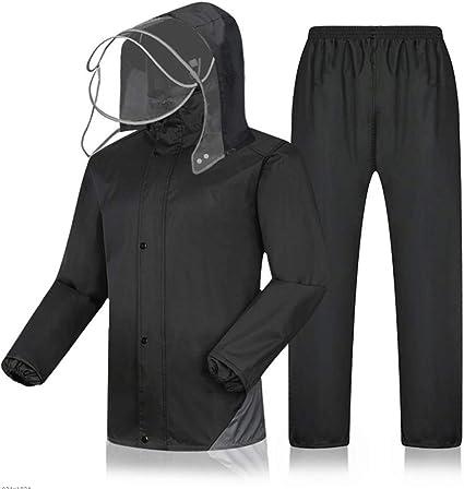 Hongyan Vêtements de Pluie pour Hommes Vêtements de Pluie