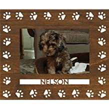 Personalized Dog Paws Wood Picture Frame