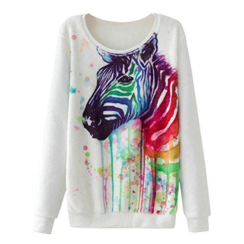 Zebra Print Sweatshirt - 2