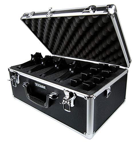 Common Sense Cases Pursuer - Premium Black Aluminum Vertical Multi-Pistol Case - 1007-BLK-F -