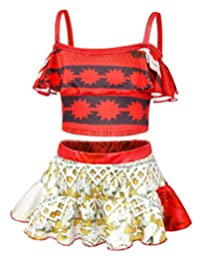 AmzBarley Moana Swimsuit Girls Princess Tankinis Swimwear Summer Beach Clothes