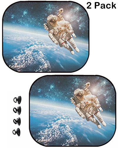 MSD Car Sun Shade Protector Side Window Block Damaging UV Rays Sunlight Heat for All Vehicles, 2 Pack Image ID: 35122778 Astronaut in Outer Space Against The Backdrop of The ()